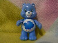 "3"" POSEABLE PLASTIC BLUE STORM CLOUD GRUMPY CRANKY CARE BEAR BABY BOY GIRL TOY"