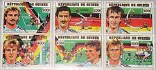GUINEA 1991 1308-13 A 1144-49 Soccer World Cup 1990 Italy Fußball WM Football **