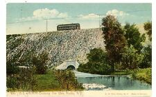 Holley NY- BL&R RAILROAD CROSSING THE GLEN - Postcard Electric Trolley