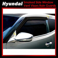 Smoke Side Window Vent Visors Rain Guards for Hyundai Veloster 11-17 Ship US