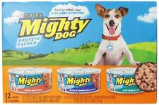 Mighty Dog Protein Packed Dinners Variety Pack (Beef,Chicken and Smoked Bacon Co