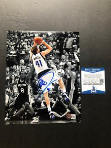Dirk Nowitzki Hot! signed autographed Mavericks Luka 8x10 photo Beckett BAS coa