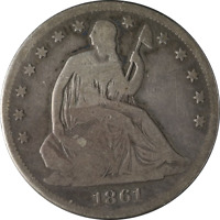 1861-P Seated Half Dollar Great Deals From The Executive Coin Company - BBHE5170