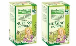 Apotheke Herbal Nursing Tea for Breastfeeding Mothers Milk 40 Teabags. Pack of 2