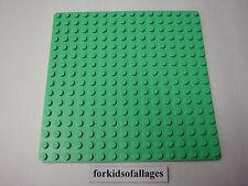"Lego Paradisa 16x16 BASE PLATE 5""x5"" LIGHT BRIGHT GREEN Platform Belville"