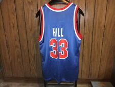 Grant Hill jersey Detroit Pistons 90s Champion large blue Hall of Fame