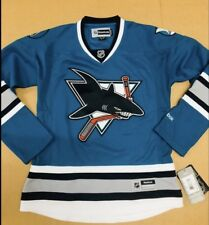 Reebok San Jose Sharks Woman Jersey Blue $140  NWT M