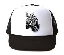 Trucker Hat Cap Foam Mesh Nature Zoo Zebra Animals Face