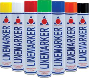 6 Pack Line Marking Marker Paint Aerosol Spray Car Park Road Field Warehouse