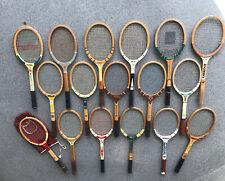 17 Wood Tennis Rackets Racquets Lot Wooden Vintage Wilson Davis Spaulding Capri