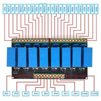 (EU) OEG 8-Channel Relay Socket Eight Panels Driver Boards DC 12V NPN