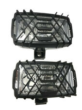 2x Scheinwerfer Fernscheinwerfer 220x123x120 12V 24V Halogen Schutzgitter SET