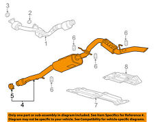 GM OEM-Exhaust System-Muffler Tail Pipe 23377842