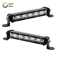 2pc OLS 7 Inch 18W Off Road LED Work Driving Flood Light Bar Truck 4WD ATV