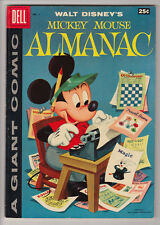 MICKEY MOUSE ALMANAC # 1 Dell Giant 1957 CARL BARKS ART (8pgs) FN+ 6.5