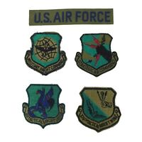 USAF Air Force Military Tactical Airlift Command Insignia Badge Patch Lot of 5