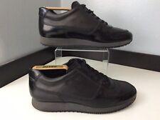 Hogan Mens Sneakers, Trainers, Uk 6 Eu40, Black Leather, Immaculate