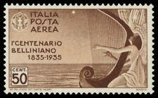 """ITALY C80 (Mi539) - Vicenzo Bellini """"Composer"""" Muse Playing Harp (pf32583)"""