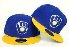 New Era Milwaukee Brewers Snapback Hat Royal - Yellow