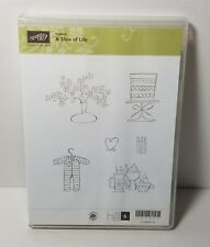Stampin' Up! Slice of Life Clear Mount Rubber Stamp Baby Wedding Floral Coffee