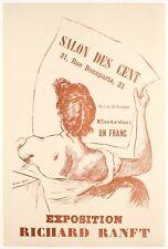 Affiche Originale - Richard Ranft - Salon des Cent La Plume - Avant lettre 1894