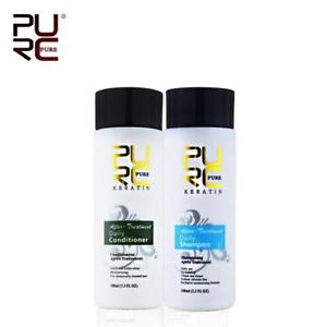 PURE Hair Shampoo & Conditioner for Keratin Straightening Repair Treatment Care