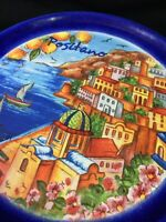 """Stunning 6"""" Positano Landscape Wall Plate Made In Italy ~ Beautiful Vibrant Art"""