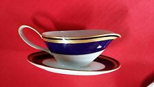 Hutschenreuther Monarch 9033 Gravy Boat with Attached Underplate NM/M