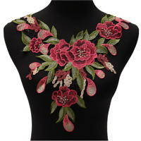 Blossom Flower Applique Clothing Embroidery Patch Sticker Sew On Cloth DIY  A