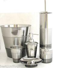 Nuevo,Hecho a Mano India 6PC Set de Plata Rayas Metal Dispensador Jabón + + Vaso