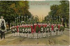 Madison School in Tournament of Roses Parade Pasadena CA Postcard 1910