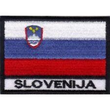 [Patch] BANDIERA SLOVENIA cm 7 x 5 toppa ricamata ricamo SLOVENIJA -021