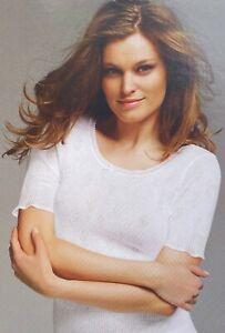 Womens Cream Thermal Short Sleeve Vest Top Seamfree