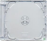 5 x CD Super Jewel Box 10.4mm Double 2 Disc Super Clear Tray Replacement Case