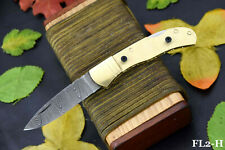 Custom Hand Forged Damascus Steel Blank Folding Knife Handmade (FL2-H)