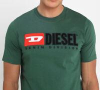 Diesel T Denim Division Green S M L XL T Shirt Summer Casual RRP £39.99
