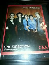 One Direction 2014 Caa Artist Of The Year Award Promo Poster Ad Framed!