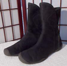 KEEN CHAMONIX Wool Lined LEATHER Waterproof BOOT Velcro BLACK Winter WOMEN 11 42