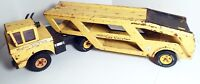 """Vintage 1960s Large Pressed Steel Mighty Tonka Toy Mighty Car Carrier 34"""""""