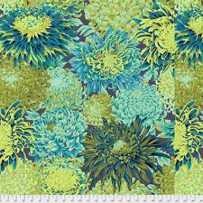 1/2 Yard Kaffe Fassett Japanese Chrysanthemum Forest Green Quilting Fabrics