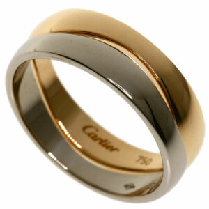 CARTIER   Ring Love milling # 59 K18 White Gold 18K Pink Gold
