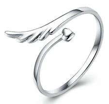 wholesale 925 silver Angel wing ring women's classic fashion jewelry gift size 7