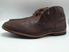 2E22 Timberland Boot Company Lace Up Casual Leather Browne Sz 12 Men Shoes $300