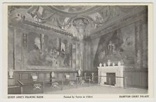 London/Surrey postcard - Hampton Court Palace. Queen Anne's Drawing Room