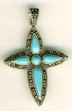 "Less than 13"" Turquoise Religious Fine Necklaces & Pendants"