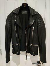 AllSaints Mishima Black Leather Biker Jacket Extra Small 34 36 NEW ALL SAINTS