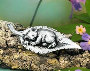 Sleeping Gumleaf Baby Koala Australian Souvenir Micro Figurine Australiana Gift