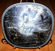 Visions Of The Sacred Snow Rider Linda Medaris Indian Eagle Deer Bear Plate
