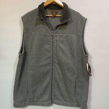 St. John's Bay Men Vest Gray Sz Big/Tall XL Adirondack Fleece Pill Resistant