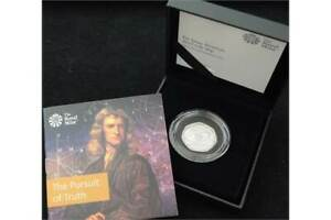 Royal Mint 2017 Isaac Newton 50p - The Pursuit of Truth - Silver Piedfort